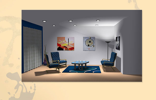 3ds illustration | Living room